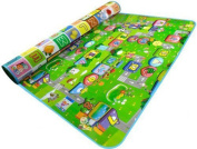 LAAT Waterproof Baby Play Mat Foldable Kids Crawling Educational Double-side Toddler Activity Play Pad Game Soft Foam Picnic Carpet Child Toy Gift for Home Outdoor-180cm *120cm inches