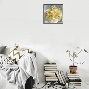 "CHshe 5D DIY Diamond Painting, ""Art Is Our Soul, Blossom of Chrysanthemums"" Rhinestone Pasted Home Decor Embroidery Cross Stitch in Fashion"