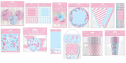 Baby Shower Gender Reveal Party Pack Kit Decorations Unisex Boy Girl Tableware