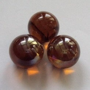 500g AMBER Glass Decorative Marbles 16mm