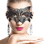 Sexy Attractive Black Lace Eye Mask for Halloween Party Masquerade Ball Fancy Dress Costume Portrait Photography Wolf Style