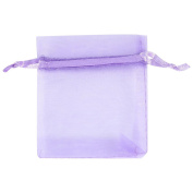 100 Pcs 8x10cm Organze Wedding Favour Gift Bags Jewellery Pouches Drawstring Pouches Party Candy Favour Purple