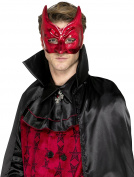 Smiffy's 45033 Devil Masquerade Eyemask, Red, One Size