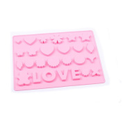 TIREOW Silicone LOVE Heart Star Shape Pan DIY Gift Mould Tools