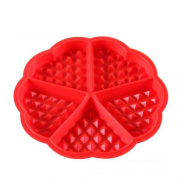 TIREOW Silicone Mini Rectangle And Love Shape Pan DIY Microwave Baking Mould Tools