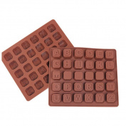 TIREOW Silicone 26 Letter Chocolate Spaces Ice Cube DIY Baking Cupcake Decorating Tools