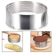 Itian Stainless Steel Adjustable Cake Slicer Cake Ring Cutter For Cake Lover