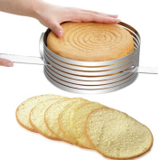 2017 . ,YOYOUG Stainless Steel Adjustable Circular Ring Cutter Layer Bread Cake Slicer Tool Kit