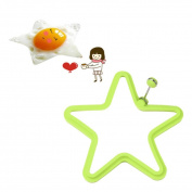 Sansee New 4pcs Silicone Star Shaped Egg Mould Rings Cooking Stencils Pancake Mould