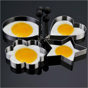 Pancakes Eggs Moulds,Sansee 4PC Thick Stainless Steel Omelette Mould Control Rice Omelette Mould Love