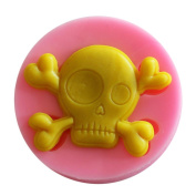Buimin Silicone Cake Decorative Mould Halloween Ghost Bone Muffin Pudding Mould