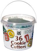 R & M Industries Plastic Alphabet/Numbers Cookie Cutter Set, 3.8cm , Silver