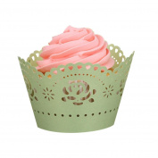 25pc Christmas Lace Cut Cupcake Wrapper Decorations Liner Baking Cup Muffin MML
