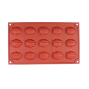 LeMarle 15-Cavity Silicone Mould Non Stick for Homemade Seashell Cookies Chocolate Candy Cake Moulds