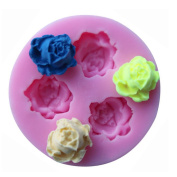 DreamFlying Roses Shape Silicone Chocolate Fondant Biscuit Mould Cake Decorating Baking Mould – Three Roses