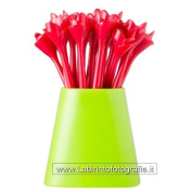 Vigar Flower Power Set Toothpick Snack, ABS, Red, 6 x 6 x 10 cm
