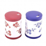 DealMux Chinese Style Plastic Household Toothpick Holder Container 2pcs Blue White Red