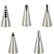 5x Chytaii Cake Piping Icing Nozzles Cake Icing Tips Cake Cupcake Decorating Sugarcraft Pastry Tips