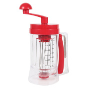 Portable Manual Operated Pancake Mixer And Dispenser Machine Egg Beater Blender For Cupcake 1Pc