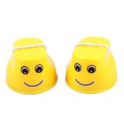 ZHOUBA 1Pair Kids Children Mini Physical Training Plastic Balance Toy Walking Jumping Stilts - Yellow
