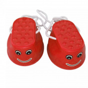ZHOUBA 1Pair Kids Children Mini Physical Training Plastic Balance Toy Walking Jumping Stilts - Red