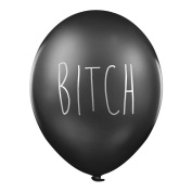 "Rude Balloons – ""Bitch"" x 5 - Abusive birthday party balloons for her"