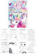 12 MINI Unicorn Fun Children's Kids Activity Colouring Puzzle Book