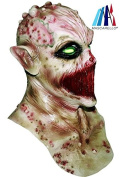 MASCARELLO® Deluxe Latex Deadly Silence Alien Zombie Halloween Head And Neck Costume Mask