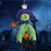 DreamFlying Ghost Hanging Props Halloween Party Decoration - Green