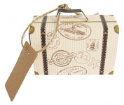 E-Goal 50Pcs/Pack Mini Suitcase Wedding Favour Candy Box for Wedding Party Decoration