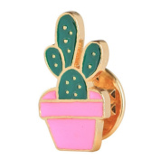Lumanuby Brooch Lovely Cactus Brooch Potted Cactus Brooch Badge Needle Fantasy Corsage and Brooch Pin Decoration for Clothes Scarves Shawl Clip