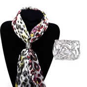 Milopon Scarf Buckle Scarf Rings Hollow Rose Scarf Rings Scarf Clips Scarf Clasp Scarf Decorations 2PCS