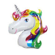80cm Rainbow Unicorn Foil Balloon Animal Horse Decoration for Birthday Baby Shower Party Wdding Child Toys