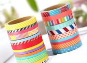 RICISUNG 10pcs Mini tape creative dividing line and paper tape hand account diy border separate lines fine paper tape for Scrapbooking/Craft