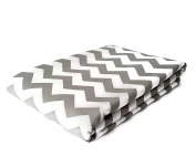 Grey Zig Zag - 100% Cotton Printed Fabric Material - 3 m Lenght - 1.6 m Wide
