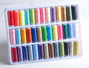 RICISUNG Spools All Purpose Sewing / 100% Pure Cotton Thread Reel Sets by Move & Movin