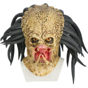 Cosplay Costume Mask Deluxe Latex 1:1 Replica Helmet Jungle Hunter Fancy Dress Merchandise for Adult Men Halloween