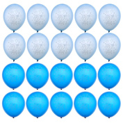 2nd Birthday Blue Boy Printed Star Balloons Party Decor Printed 28cm Latex x 20