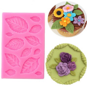 DIY Rose Leaf Fondant Cake Decorating Tools Cake Border Cupcake Silicone Lace Mat Mould Gumpaste Chocolate Candy Clay Moulds Baking Mat Kitchen Bakeware Tool