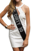 Fecedy Dirty 30 Women's Sash for 30th Birthday Party decorations