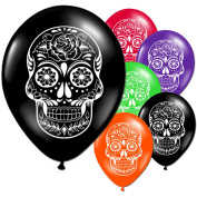 40 Day Of The Dead Halloween Latex Printed Balloons