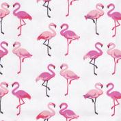 Higgs & Higgs - Fandango Flamingos - Cerise Pink - 100% Cotton Fabric Childrens Quilting