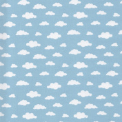 Higgs & Higgs - Clouds - Blue - 100% Cotton Fabric Sky Childrens Quilting