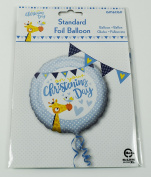 Christening Day Foil Helium Balloon Boys Round Party Decorations Baby 46cm Large