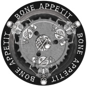 Halloween Party Table Wear Skeleton Dinner Plates Decorations Fancy Dress Party Accessory