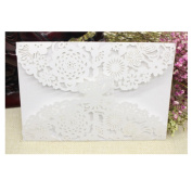 VWH 10Pcs Hollow Wedding Evening Invitations Party Birthday Greeting Butterfly Cards