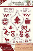 Sara Signature Collection Scandinavian Christmas - Stamp - 'Tis The SEASON, Transparent