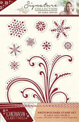 Sara Signature Collection Scandinavian Christmas - Stamp - Flakes And Swirls, Transparent