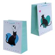 Cute Cat Design Medium Glossy Gift Bag