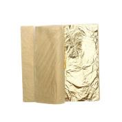 ULTNICE Gold Leaf Sheets Imitation Gold Foil for Art Crafts Decoration Gilding Crafting Frames 100 Sheets